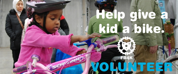 Donate your bike on Saturday, January 14th to Free Bikes for Kids