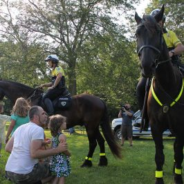 """Community Corral"" with the Madison Police Mounted Patrol Unit –  Thursday, July 13 – 5:30 pm"