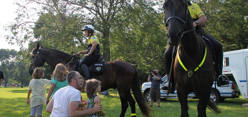 """""""Community Corral"""" with the Madison Police Mounted Patrol Unit –  Thursday, July 13 – 5:30 pm"""