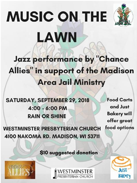 Music on the Lawn – Saturday, September 29th