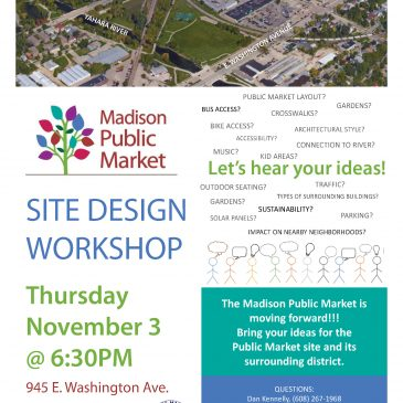 Madison Public Market Community Workshop Scheduled for November 3