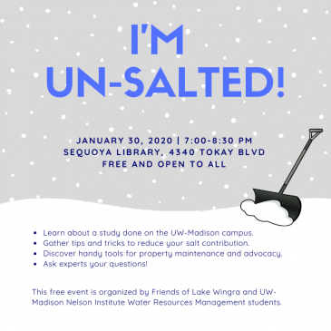 I'm Unsalted Program – January 30 – 7:00 pm – Sequoya Library